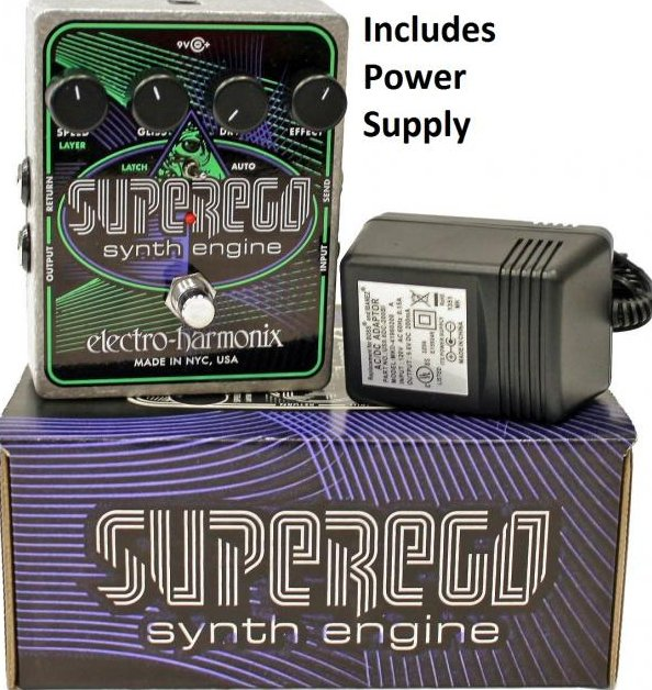 Image 0 of Electro Harmonix Superego Synth Engine Guitar Effect Pedal w/ Power Supply