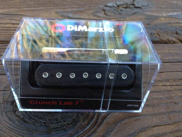 Image 0 of DiMarzio Crunch Lab 7 String Bridge Lead Pickup DP 708 Black Humbucker DP708