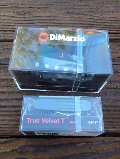DiMarzio True Velvet T Tele Pickup Set w/ Black Cover DP178 & DP177 Telecaster