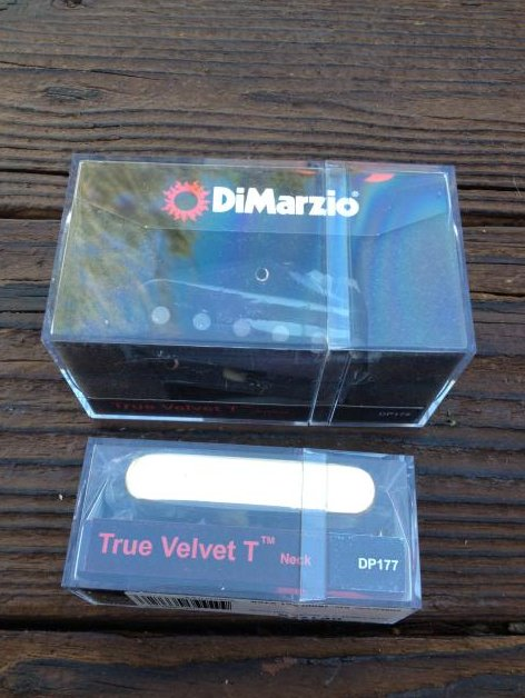 DiMarzio True Velvet T Tele Pickup Set w/ Gold Cover DP178 & DP177 Telecaster