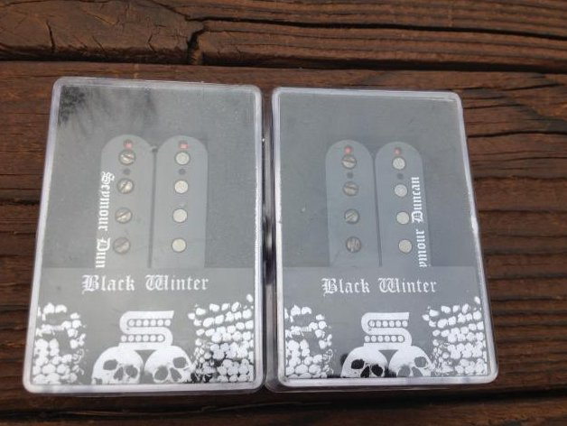Image 0 of Seymour Duncan Black Winter 6 String Pickup Set Bridge and Neck Humbuckers