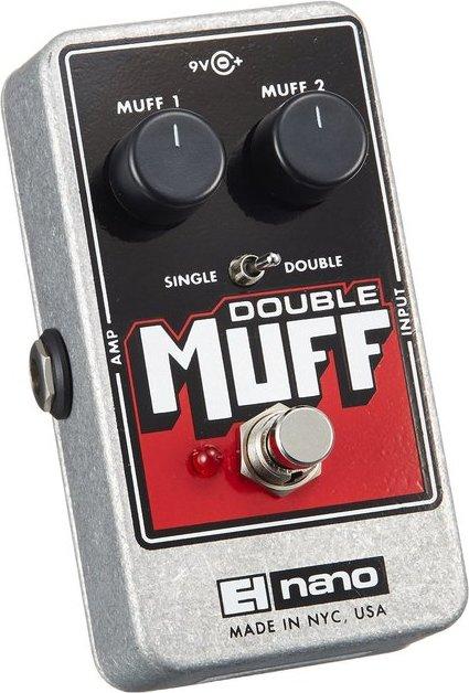 Electro Harmonix Double Muff Nano Fuzz/Overdrive Guitar Pedal w/ 9V Battery Nano
