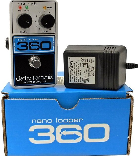 Electro Harmonix Nano Looper 360 w/ Power Supply Looping Pedal