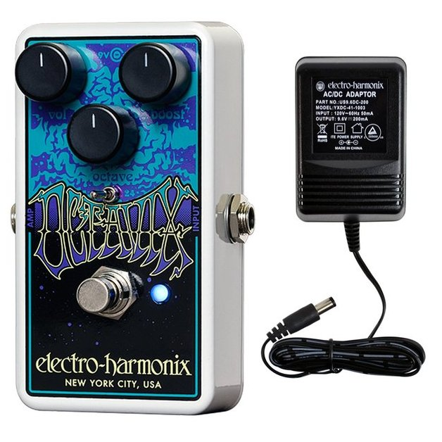 Electro Harmonix Octavix Octave Fuzz Pedal w/ Power Supply Nano