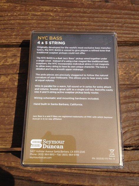 Seymour Duncan Basslines SSB-5NYC Phase II NYC Passive