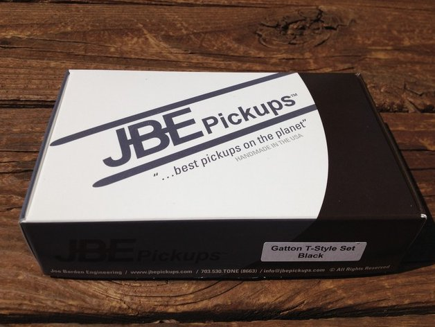 JBE Danny Gatton T Tele Telecaster Pickup Set BLACK (forrmerly Joe Barden)