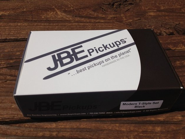 JBE Modern T Style Tele Telecaster Pickup Set BLACK (formerly Joe Barden)
