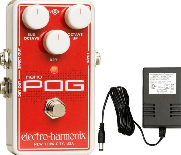 Image 0 of Electro Harmonix NANO POG w/ Power Supply Polyphonic Octave Generator Pedal