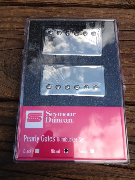 Image 0 of Seymour Duncan Pearly Gates Bridge & Neck Pickup Set Nickel 11108-49-NC