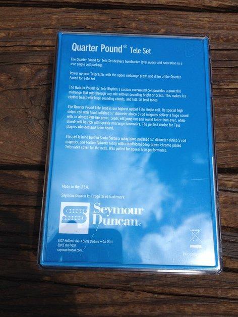 Image 1 of Seymour Duncan Quarter Pound Tele Pickup Set Telecaster Bridge & Neck 11208-14