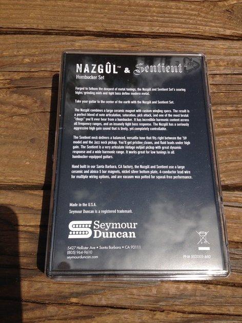 Image 1 of Seymour Duncan Nazgul / Sentient 7 String Pickup Set Black 11108-96-B7