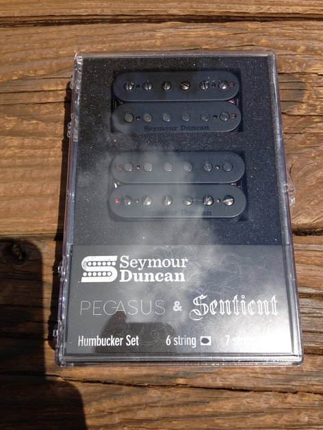 Image 0 of Seymour Duncan Pegasus / Sentient 6 String Humbucker Pickup Set Black 11108-95-B