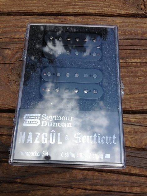 Image 0 of Seymour Duncan Nazgul / Sentient 6 String Humbucker Pickup Set Black 11108-96-B