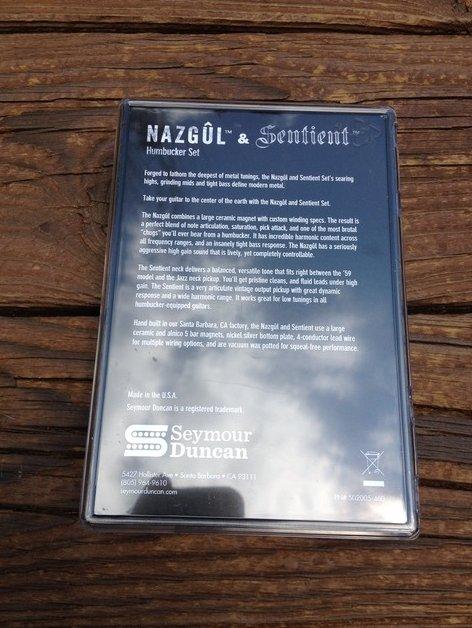 Image 1 of Seymour Duncan Nazgul / Sentient 6 String Humbucker Pickup Set Black 11108-96-B