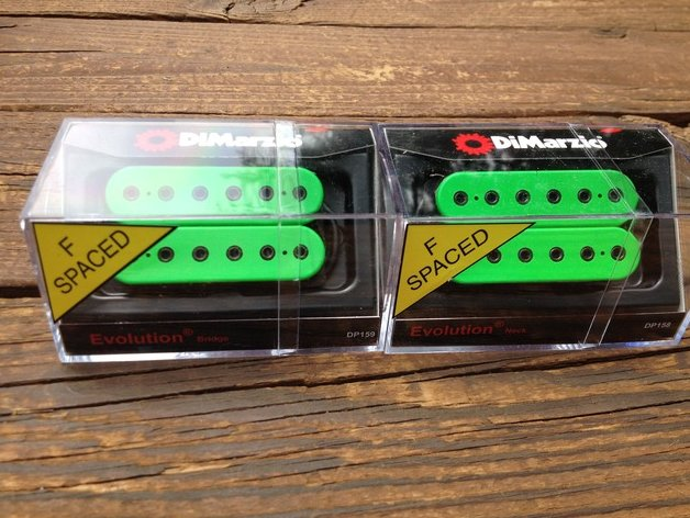 DiMarzio F-spaced Evolution Neck & Bridge Humbucker Set Green DP158GN & DP159FGN