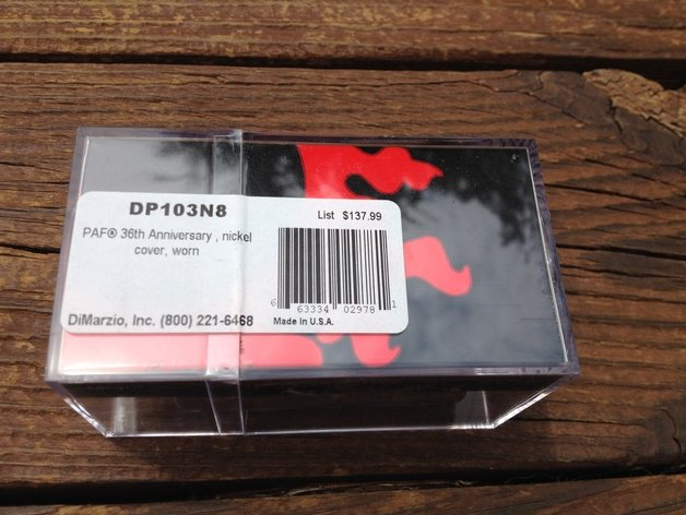 Image 1 of DiMarzio Regular Spaced PAF 36th Anniversary NECK Humbucker Pickup Aged Nickel