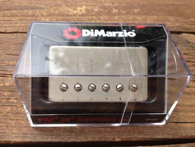 DiMarzio Regular Spaced PAF 36th Anniversary BRIDGE Humbucker Pickup Aged Nickel