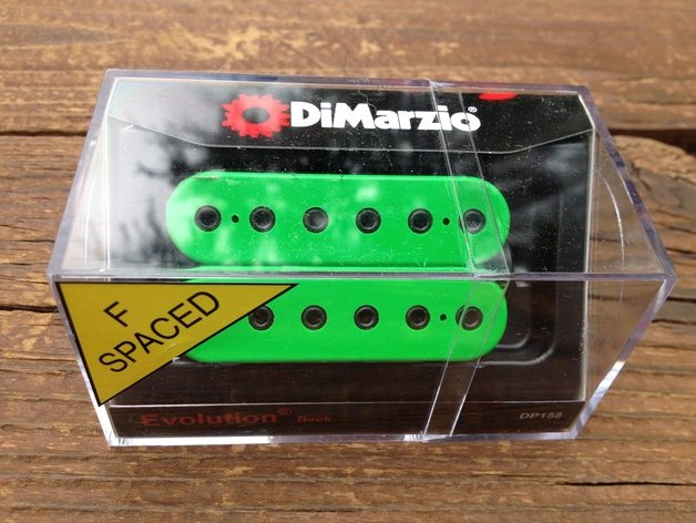 DiMarzio F-Spaced Evolution Neck Humbucker Pickup GREEN DP158FGN