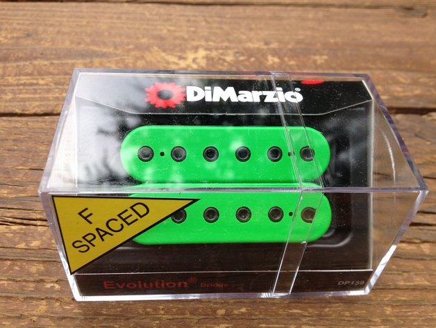 DiMarzio F-Spaced Evolution BRIDGE Humbucker Pickup Green DP159FGN
