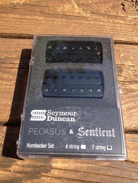Seymour Duncan Pegasus / Sentient 7 String Pickup Set Black 11108-95-B7