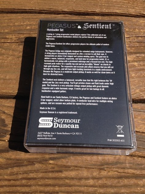 Image 1 of Seymour Duncan Pegasus / Sentient 7 String Pickup Set Black 11108-95-B7
