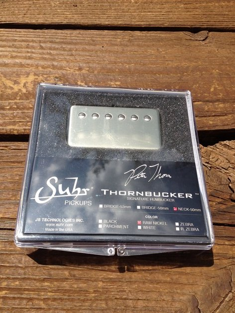 SUHR Thornbucker PAF Neck Rhythm Humbucker Pickup Raw Nickel 50mm - Pete Thorn S
