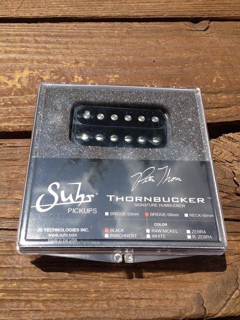 SUHR Thornbucker PAF Bridge Lead Humbucker Pickup Black 50mm - Pete Thorn Signat