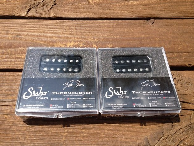 Image 0 of SUHR Thornbucker PAF SET Bridge & Neck Humbucker Pickups 50mm - Black - Pete Tho