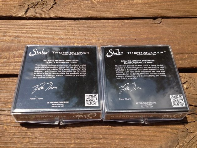 Image 1 of SUHR Thornbucker PAF SET Bridge & Neck Humbucker Pickups 50mm - Black - Pete Tho