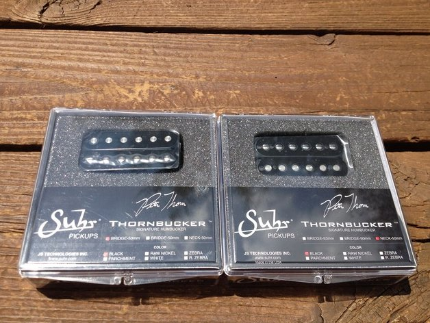 SUHR Thornbucker PAF SET Bridge 53mm Floyd Rose & Neck 50mm Pickup Set - Black -