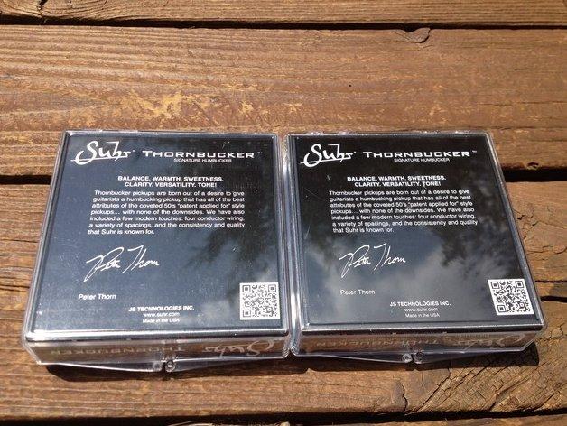 Image 1 of SUHR Thornbucker PAF SET Bridge 53mm Floyd Rose & Neck 50mm Pickup Set - Black -