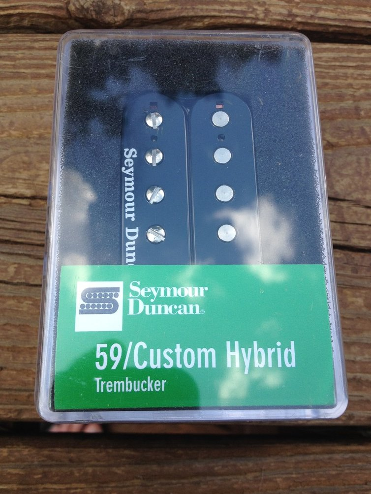 Image 0 of Seymour duncan  TB-16 59 Custom Hybrid Bridge Trembucker Black Humbucker Pickup