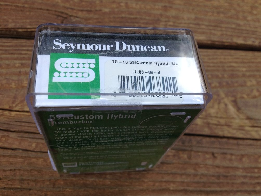 Image 2 of Seymour duncan  TB-16 59 Custom Hybrid Bridge Trembucker Black Humbucker Pickup