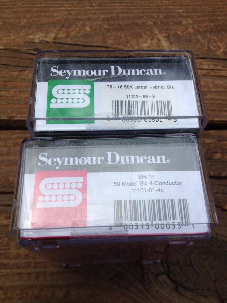 Image 2 of Seymour Duncan TB-16 59 Custom Hybrid / SH-1N 59 4 Conductor Set Black