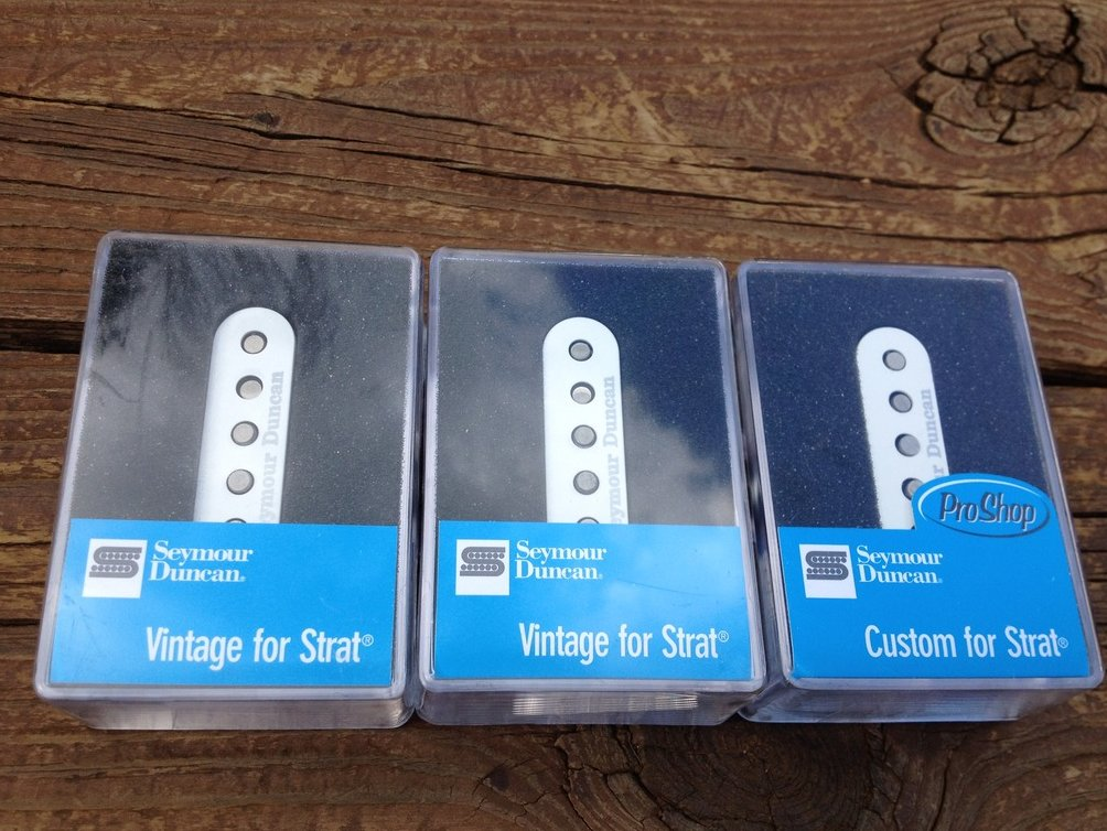 Image 0 of Seymour Duncan SSL-5 Custom & SSL-1 Vintage for Strat Pickup Set White