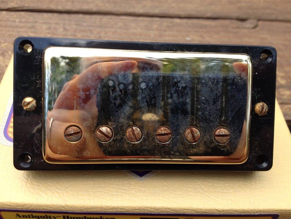 Image 1 of Seymour Duncan Antiquity Humbucker BRIDGE Pickup Aged Gold 11014-05-Gc