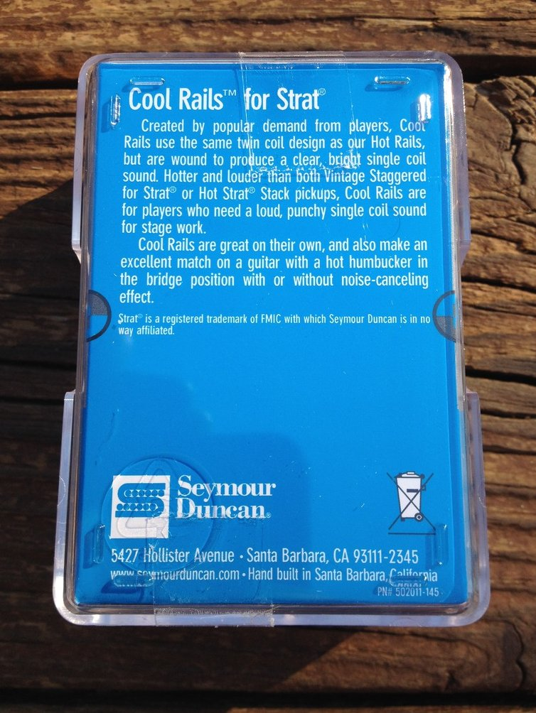 Image 1 of Seymour Duncan SCR-1n Cool Rails for Strat White NECK Pickup 11205-06-W