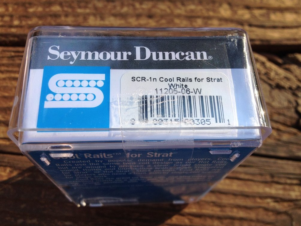 Image 2 of Seymour Duncan SCR-1n Cool Rails for Strat White NECK Pickup 11205-06-W