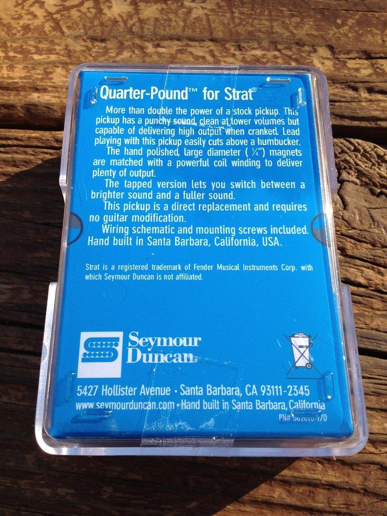 Image 1 of Seymour Duncan SSL-4 Quarter Pound Flat for Strat Alnico V High Output 11202-03