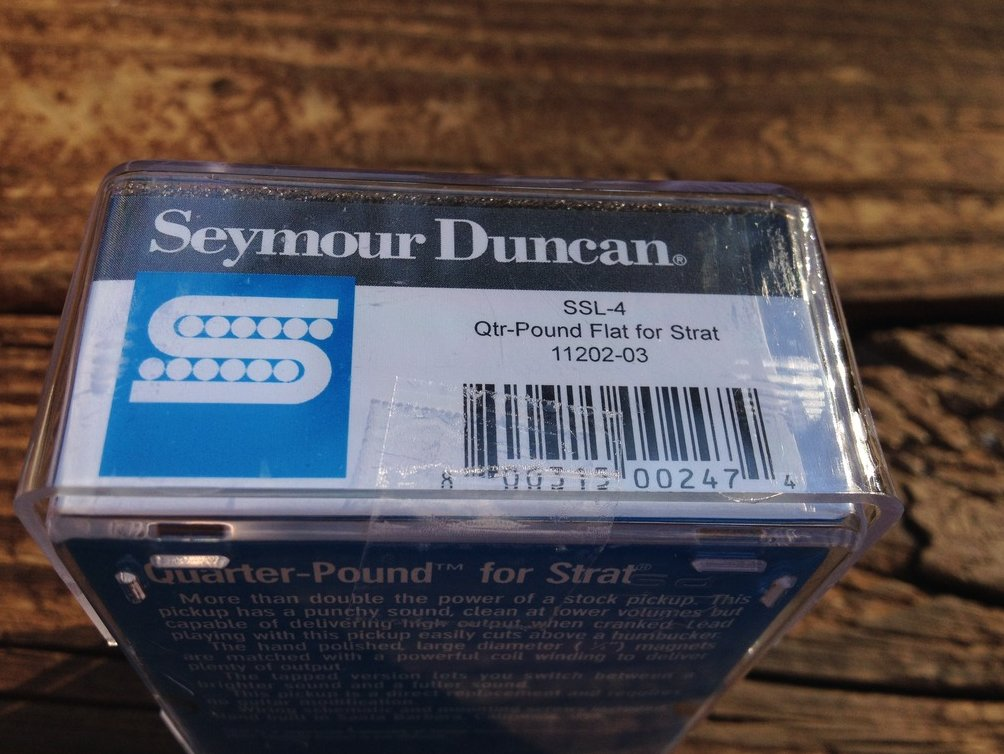 Image 2 of Seymour Duncan SSL-4 Quarter Pound Flat for Strat Alnico V High Output 11202-03