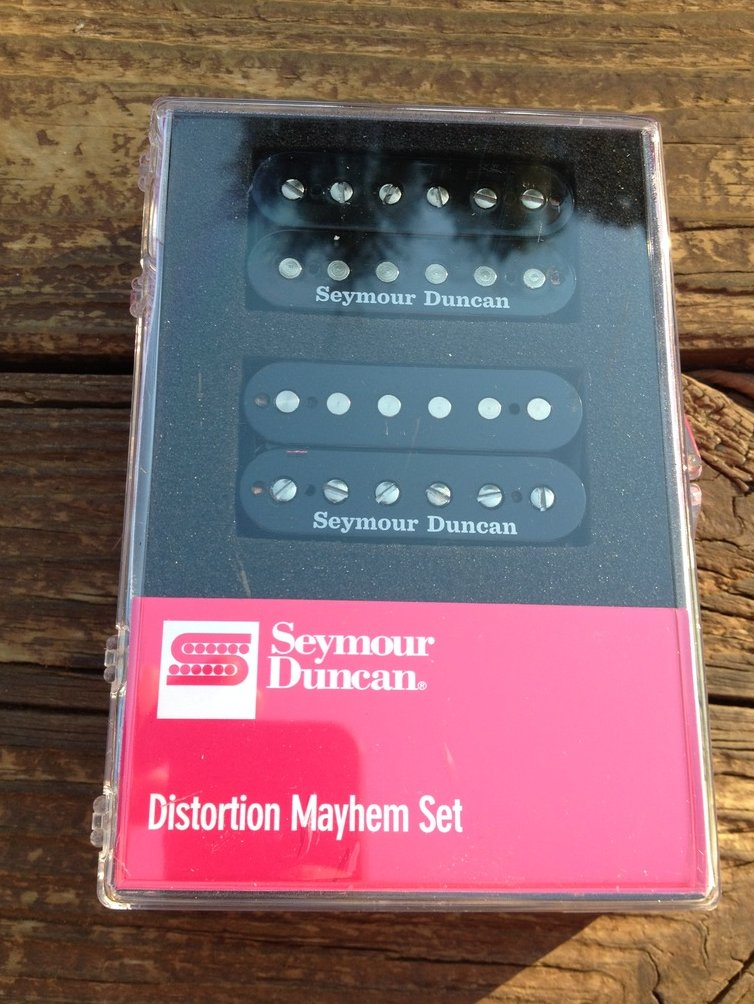 Image 0 of Seymour Duncan SH-6 Distortion Mayhem Set Bridge & Neck Black 11108-21-B