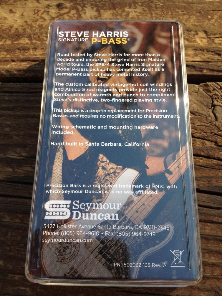 Image 1 of Seymour Duncan SPB-4 Steve Harris Signature Precision P-Bass Pickup 11402-13
