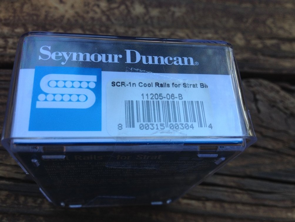 Image 2 of Seymour Duncan SCR-1n Cool Rails for Strat Black NECK Pickup 11205-06-B