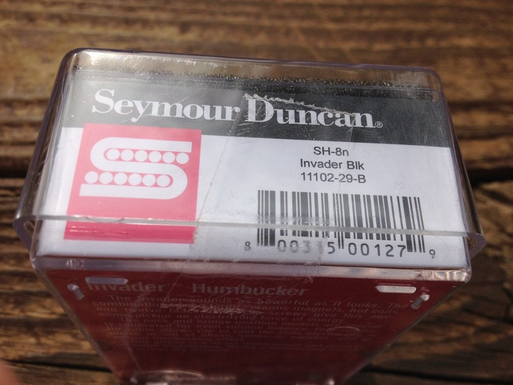 Image 2 of Seymour Duncan  SH-8 Invader Neck Humbucker Guitar Pickup Black SH-8n