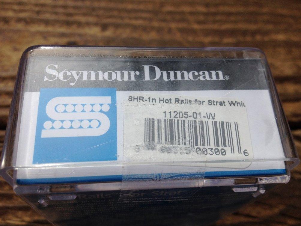 Image 2 of Seymour Duncan SHR-1 Hot Rails Strat NECK Electric Guitar Pickup White Humbucker