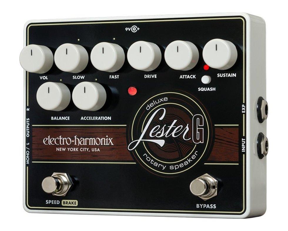 Image 1 of Electro-Harmonix Lester G Deluxe Rotary Speaker Emulator Leslie Guitar Pedal NEW
