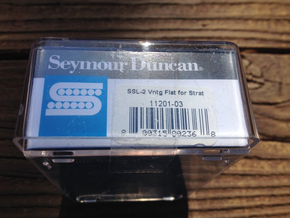 Image 2 of Seymour Duncan SSL-2 Vintage FLAT Strat Pickup Alnico V Single Coil Pickup