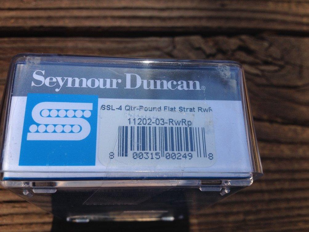 Image 2 of Seymour Duncan SSL-4 Quarter Pound FLAT Strat Pickup RWRP Hot Reverse Wound