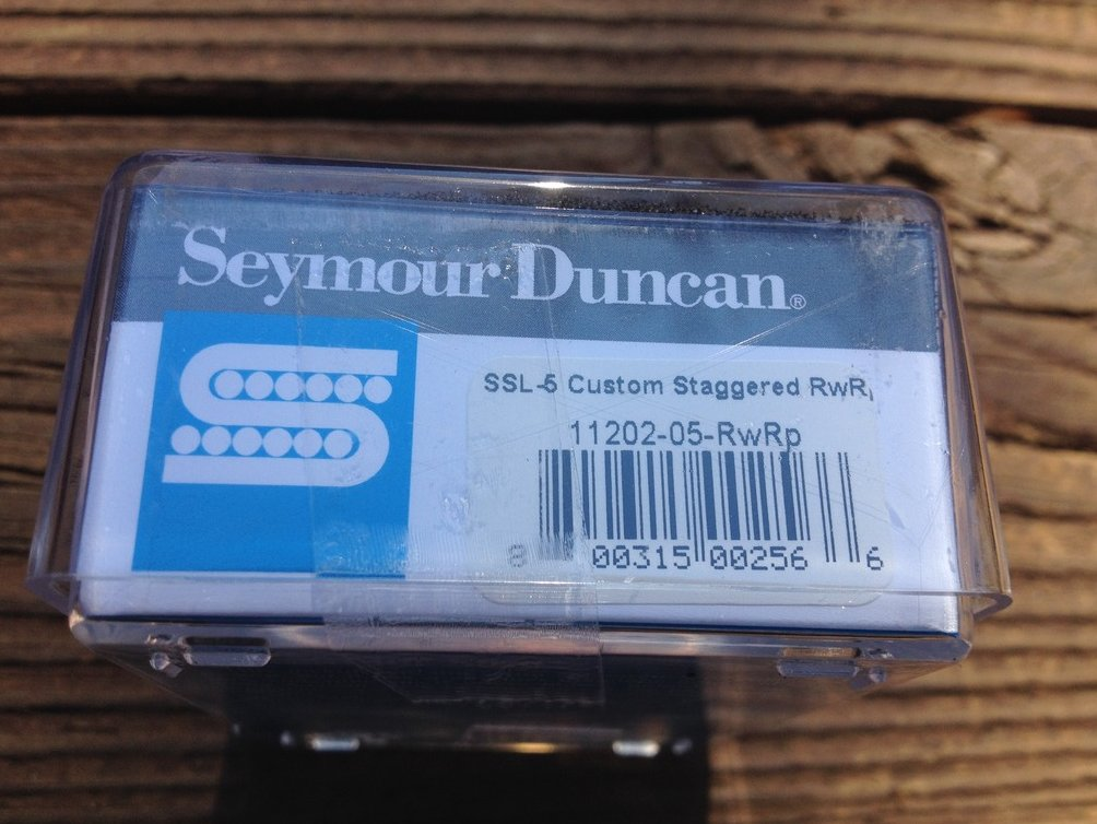 Image 2 of Seymour Duncan SSL-5 Custom Staggered Strat Pickup  RWRP Reverse Wound