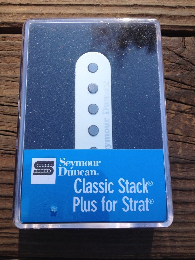 Image 0 of Seymour Duncan STK-S4M Classic Stack Strat Plus MIDDLE Pickup White